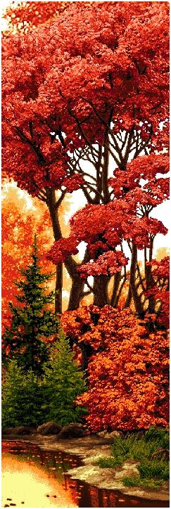гобелен Багряный лес