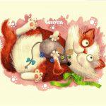 гобелен Баловни (Кот и мышь)