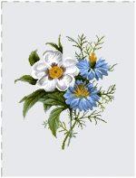 гобелен Бутоньерка (васильки)