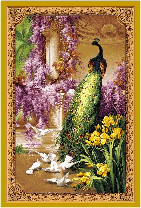 гобеленовое панно Королевский павлин
