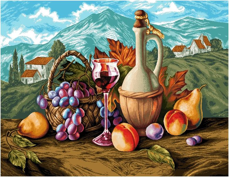 гобелен Прованс (синий виноград)