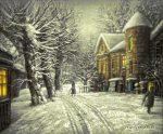 гобелен Снег выпал. Замок