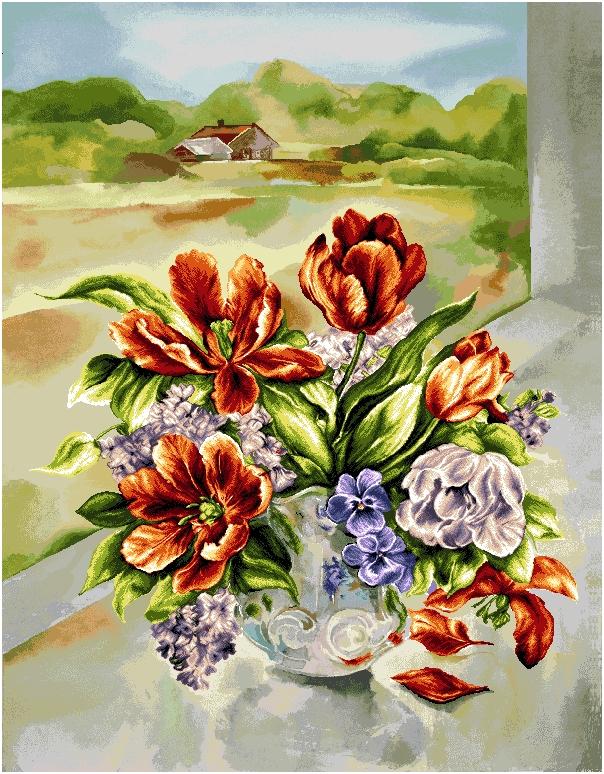 гобелен Весенний букет