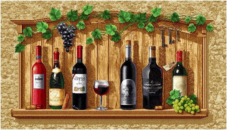 гобеленовая картина Виноградное вино