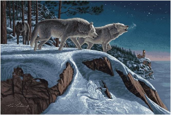 гобелен Волчья стая