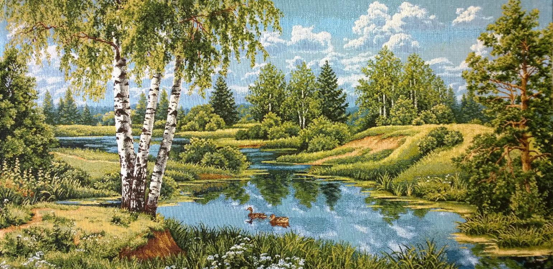 гобелен пейзаж с утками