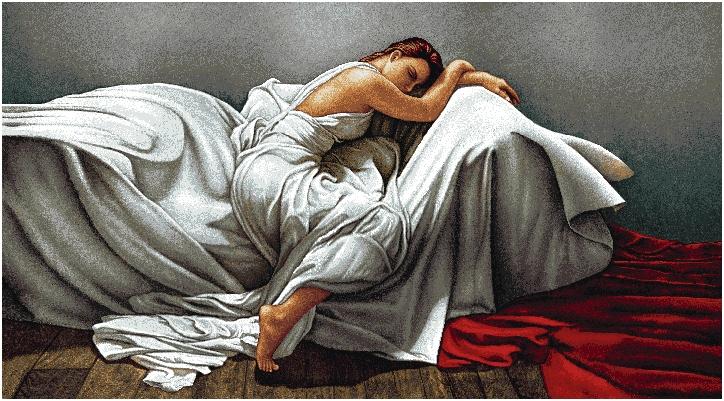 гобеленовая картина Женщина в белом