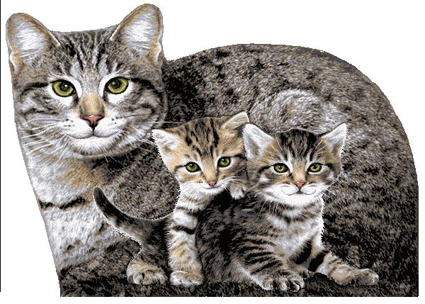 гобелен Мурка с котятами