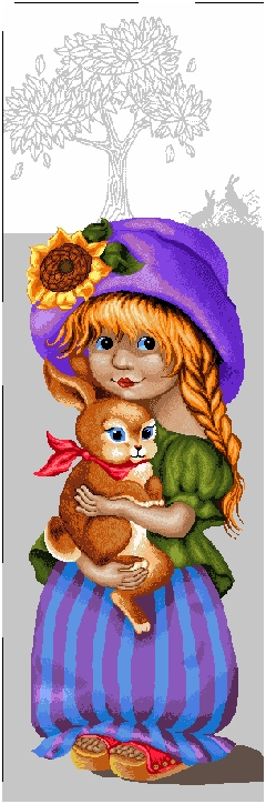 гобелен Девочка с зайкой