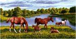 гобелен Лошади на берегу