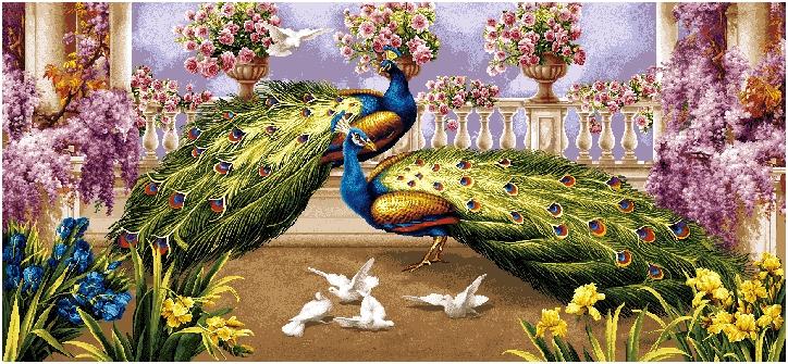 гобелен Павлины и голуби