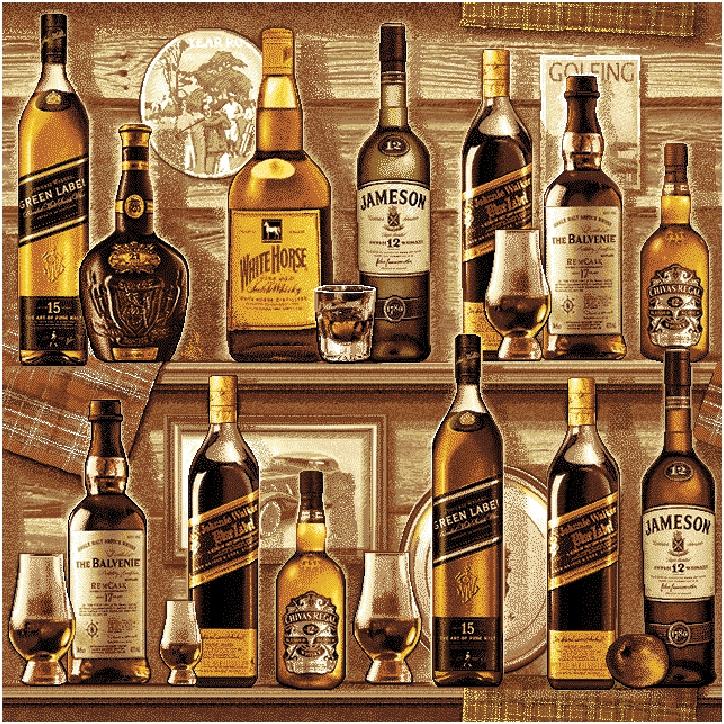 гобелен Виски сепия