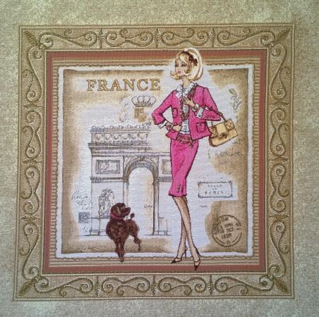 гобелен Багет Франция (розовая)