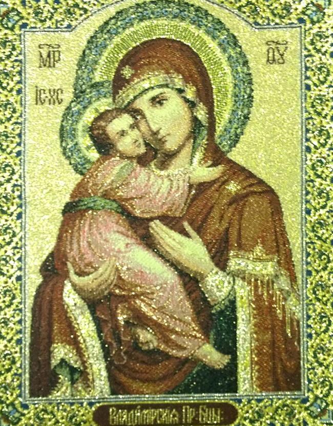 гобеновая картина Икона Богородица Владимирская