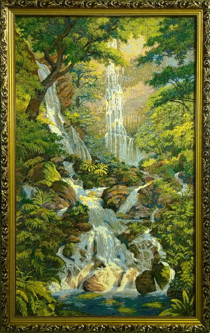 гобелен водопад романтика