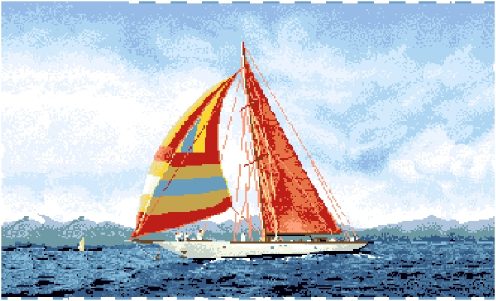 гобелен Яхта