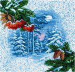 салфетка гобеленовая Зимняя ягода