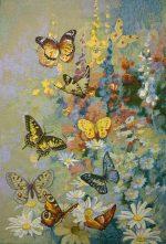 Гобелен танец бабочек