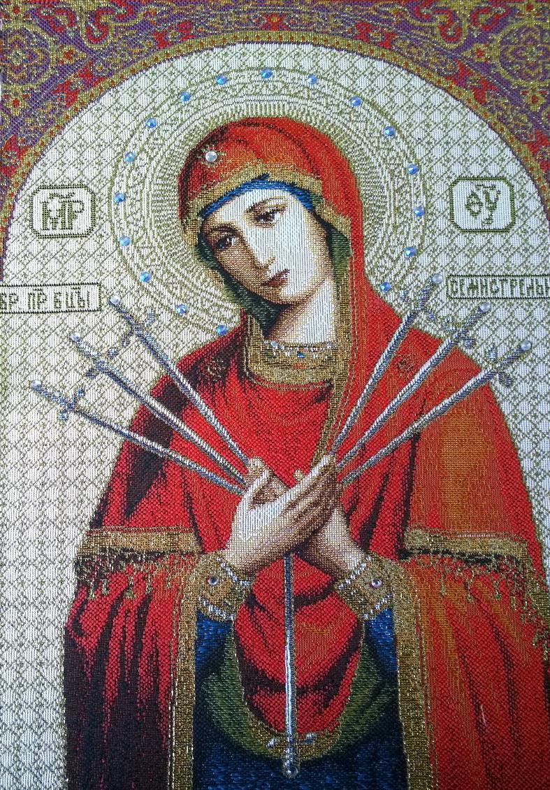 икона семистрельная божия матерь