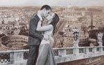 гобеленовая картина итальянский поцелуй