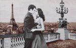 гобеленовая картина поцелуй в париже