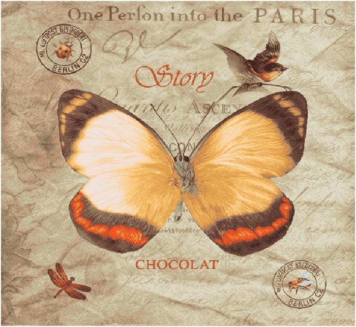 гобелен Бабочка Шоколад