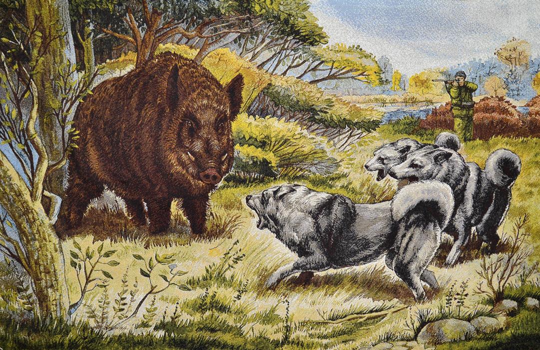 гобелен Охота на кабана (100х70)