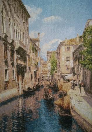 гобелен город на воде