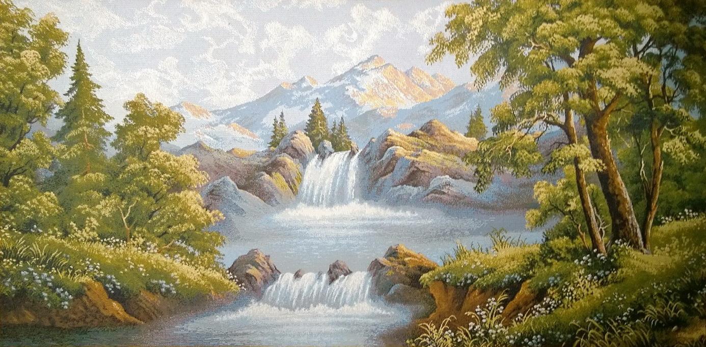 гобелен горная река