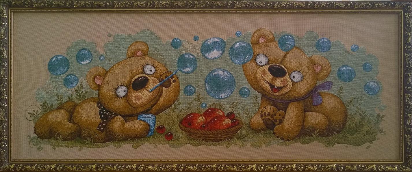 гобелен баловни два медвежонка