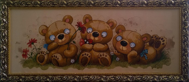 гобелен баловни три медведя