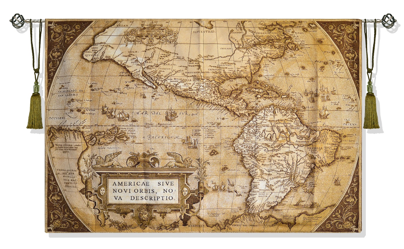 Гобелен Карта сепия (185х135)