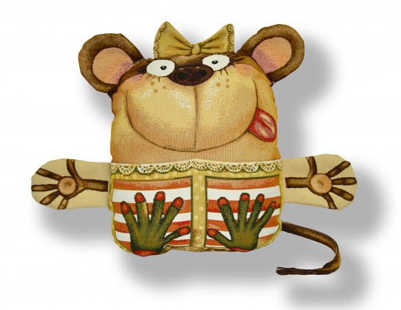 гобелен (игрушка-подушка) обезьяна -карман
