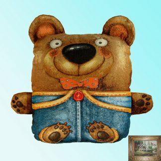 гобелен подушка -игрушка мишка