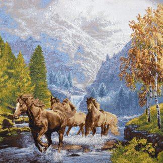 Гобелен бегущие лошади_70х97