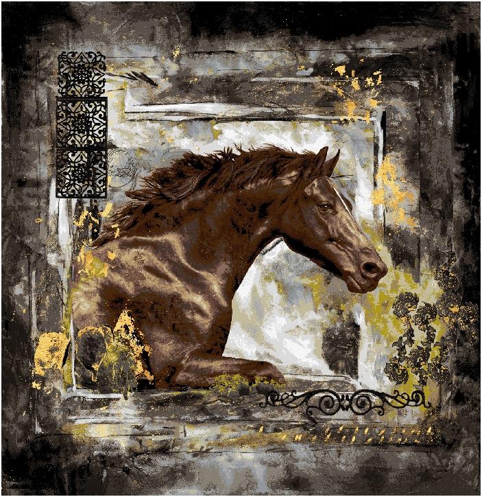 Гобелен лошадь