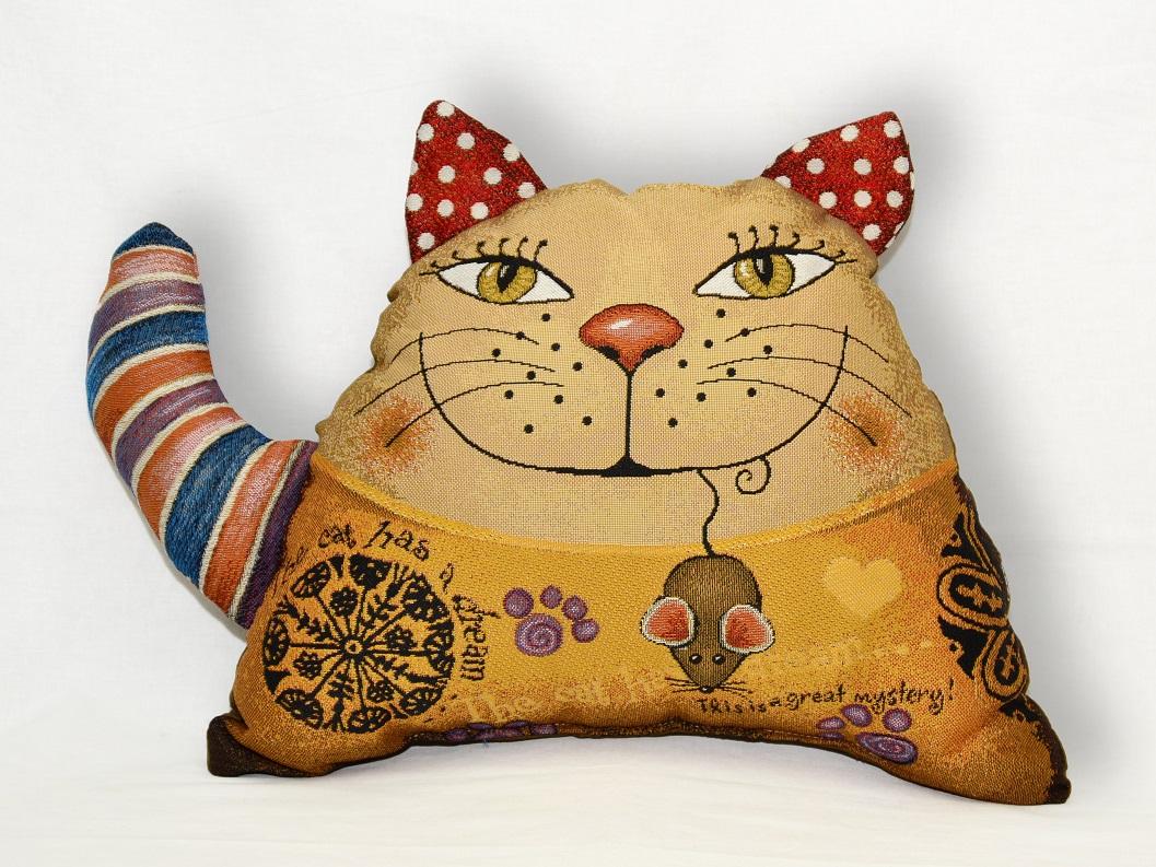 Гобелен кот полоска