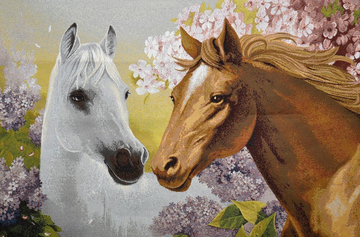 Гобелен пара лошадей