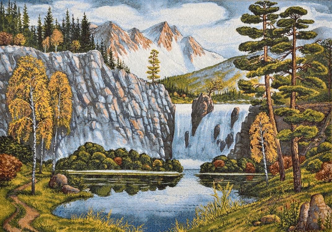 Гобелен пейзаж с водопадом