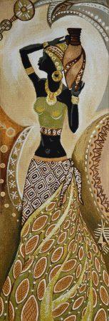 Гобелен африканка с кувшином