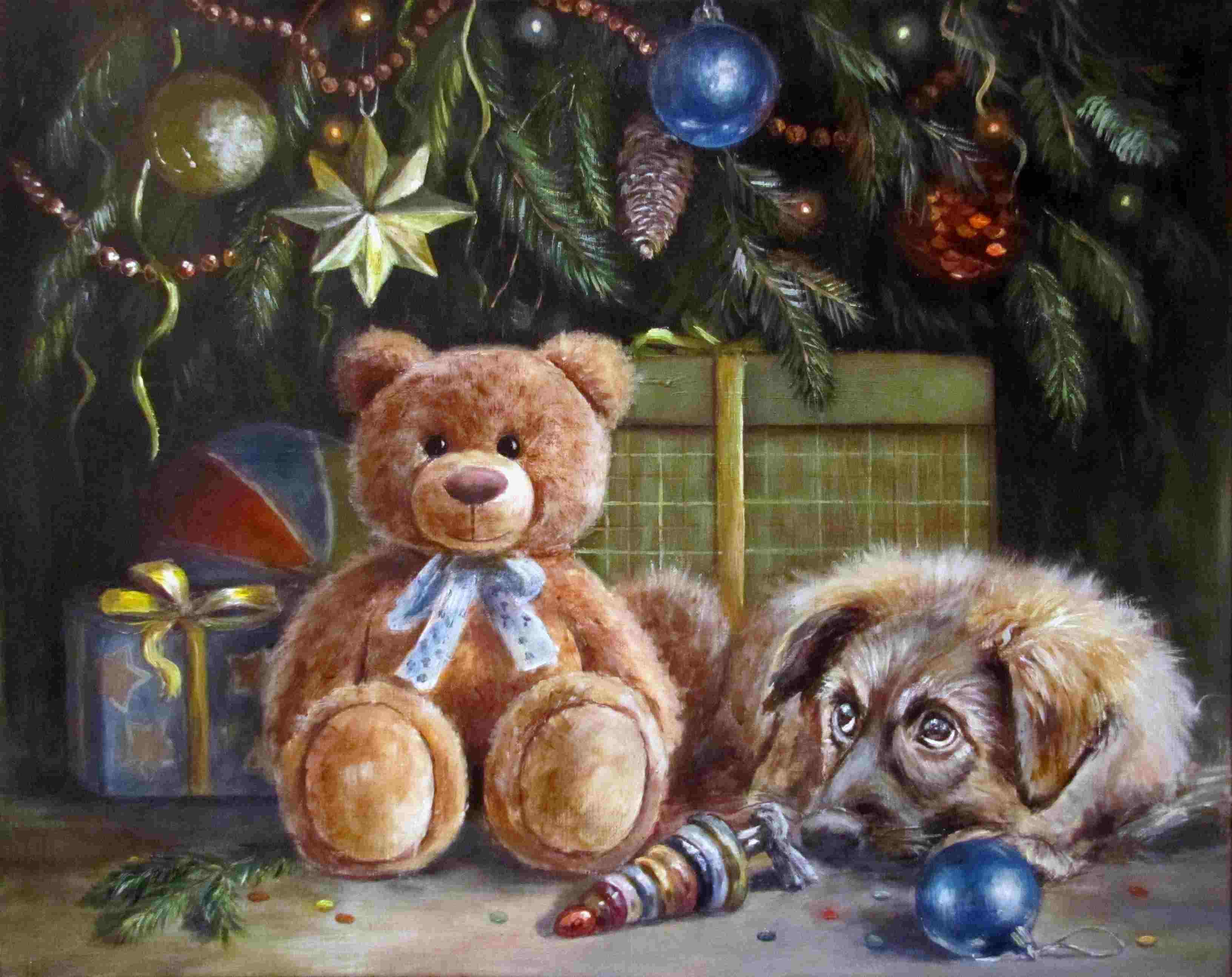 Гобелен рождественский сюрприз