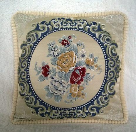 Гобелен классика розы (синий круг)