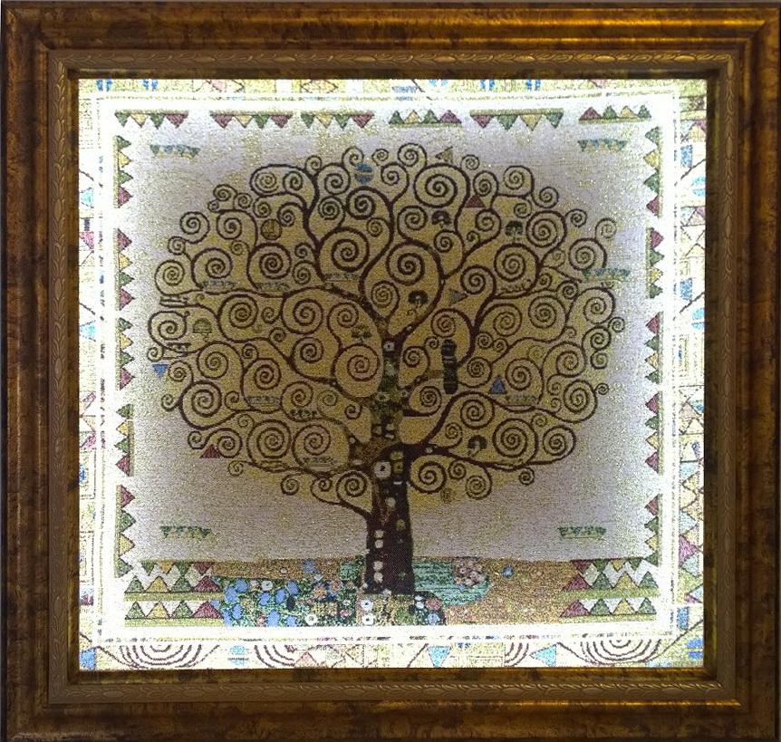 Гобелен картина древо с подсветкой