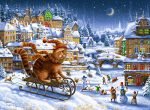 Гобелен зимние забавы