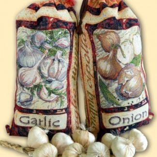 Купить гобелен мешочек для хранения чеснока и лука