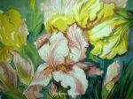 купить картину гобеленовую розовые ирисы