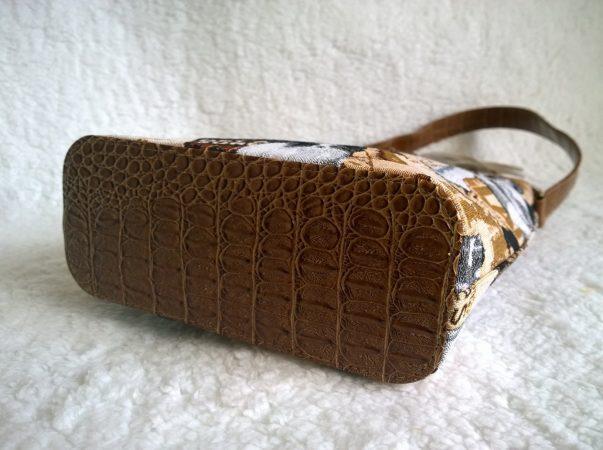 сумка гобеленовая с отделкой кожа