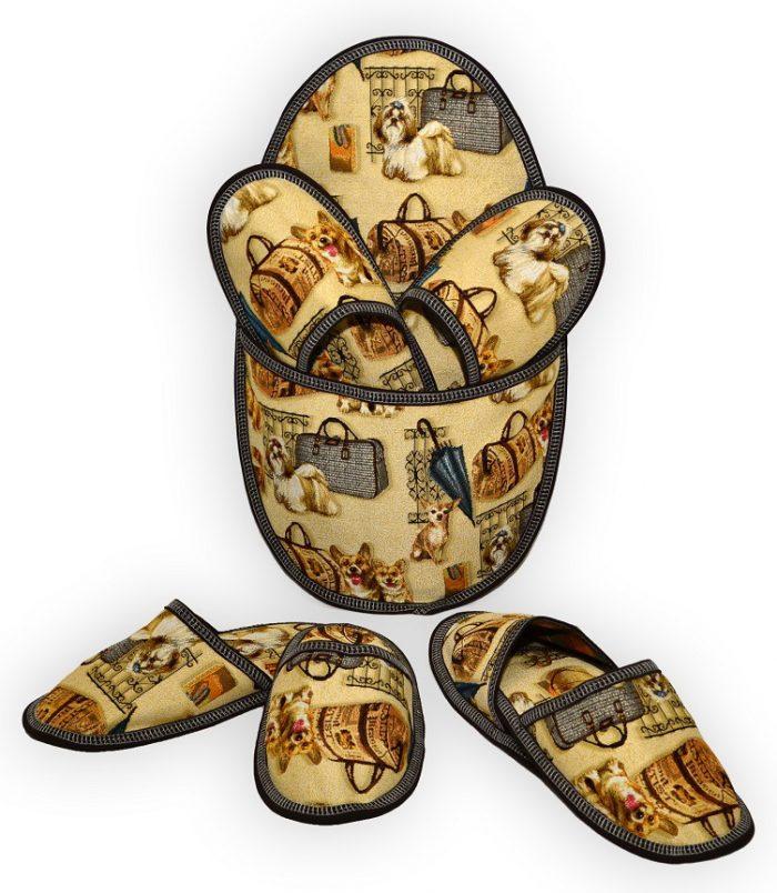 Гобелен тапки собачки с сумочками (1)