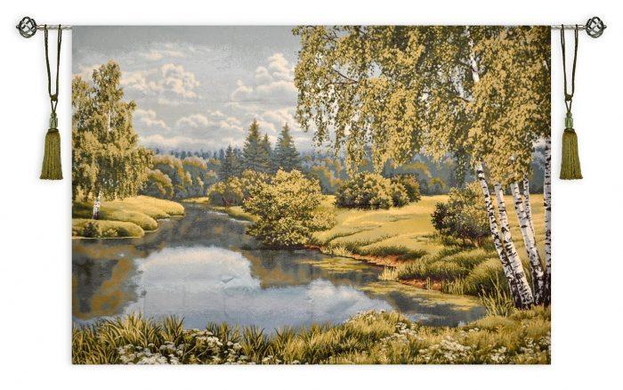 Купить гобелен пейзаж с березами