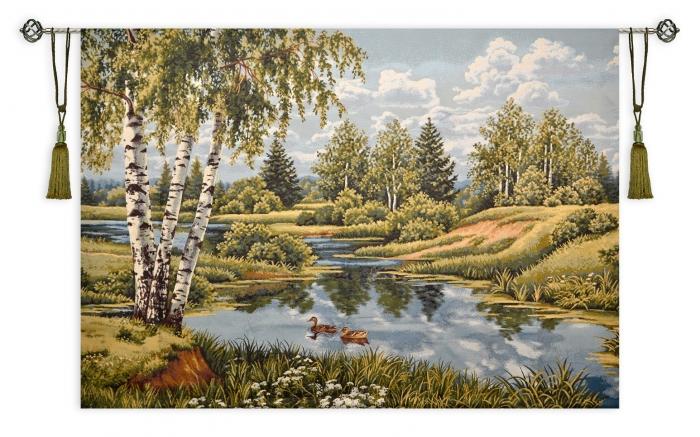 купить гобелен пейзаж с утками